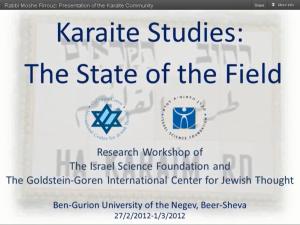Presentaion of Karaite Community