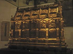"""What is believed to be the Maccabees' relics - kept in the Maccabees Shrine - is venerated in St. Andrew Church, Cologne, Germany.""Image Source and Description: http://en.wikipedia.org/wiki/Maccabees"