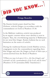 Karaite Fact Card 3  Fringe Benefits