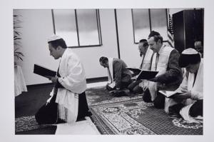 Source: Magnes Museum; The Karaite Jews- Karaite Service, Foster City, CA by Ira Nowinski (Egypt, Israel, and USA, 1984)