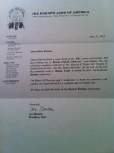 KJA Letter 1993